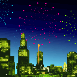 StartHomeゲームの夜空のキャンバス